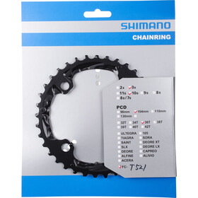 Shimano Trekking FC-T521 Kettingblad 10-speed, black